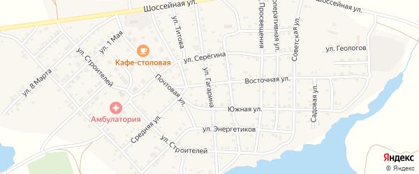Улица Гагарина на карте села Бобровки с номерами домов