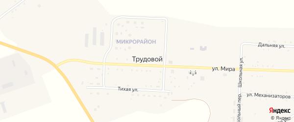 Больничный переулок на карте Трудового поселка с номерами домов