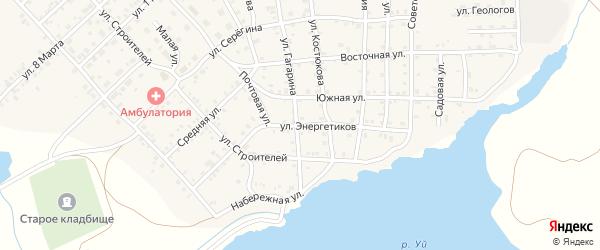 Улица Энергетиков на карте села Бобровки с номерами домов