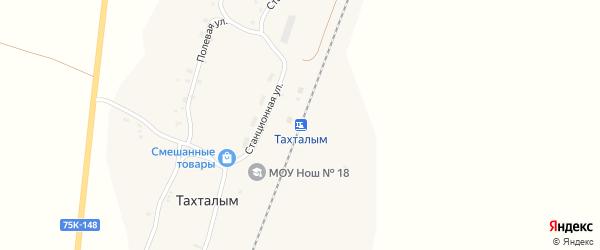Маслозаводская улица на карте станции Тахталыма с номерами домов