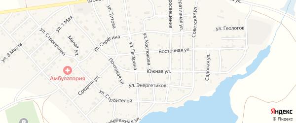 Улица Костюкова на карте села Бобровки с номерами домов