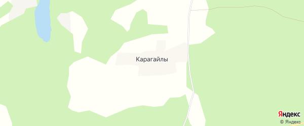 Карта поселка Карагайлы в Челябинской области с улицами и номерами домов