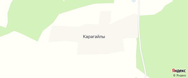 Центральная улица на карте поселка Карагайлы с номерами домов