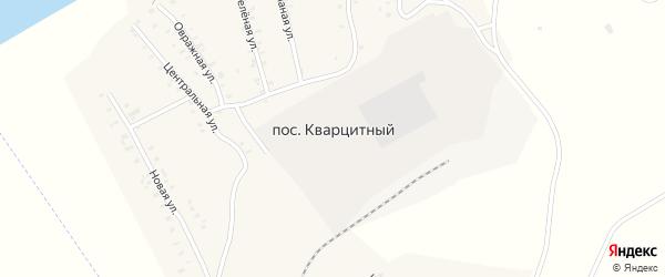 Зеленая улица на карте Кварцитного поселка с номерами домов