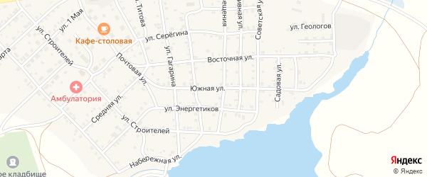 Южная улица на карте села Бобровки с номерами домов