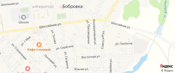Водопроводная улица на карте села Бобровки с номерами домов