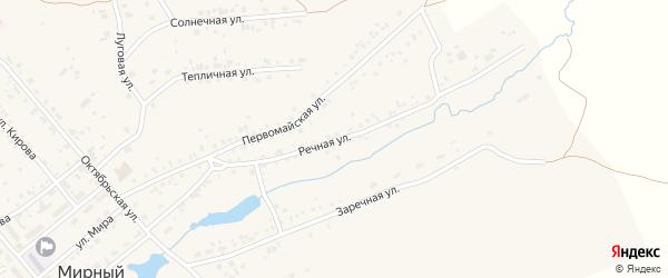 Речная улица на карте Мирного поселка с номерами домов