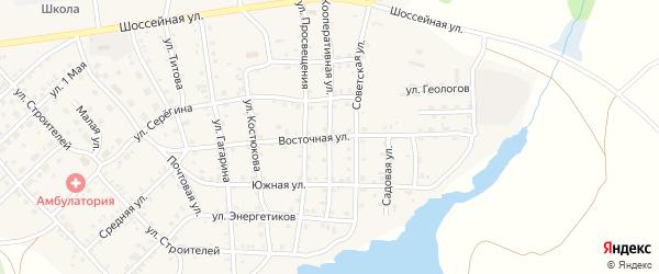 Восточная улица на карте села Бобровки с номерами домов