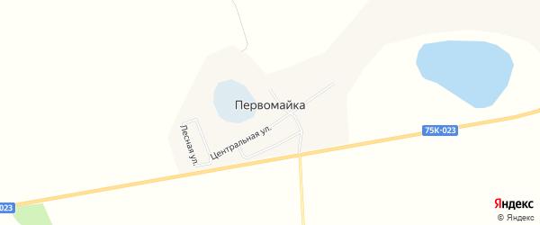 Карта поселка Первомайки в Челябинской области с улицами и номерами домов