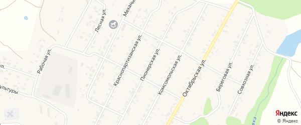 Пионерская улица на карте села Бобровки с номерами домов