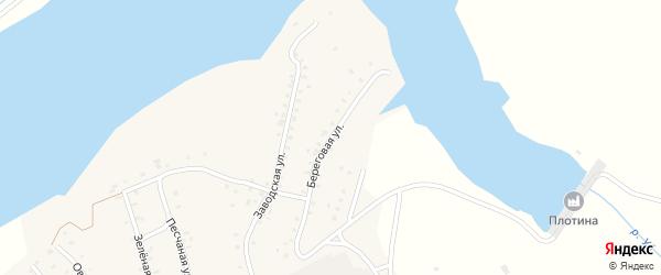 Береговая улица на карте Кварцитного поселка с номерами домов