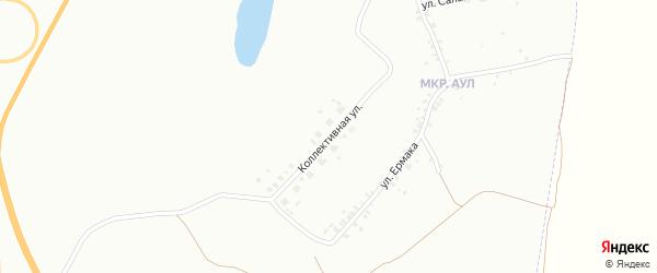 Коллективная улица на карте Копейска с номерами домов