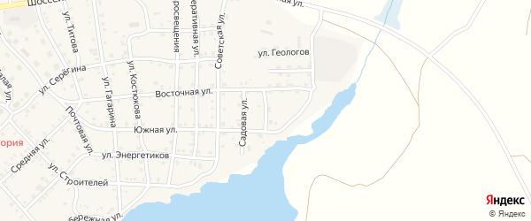 Озерная улица на карте села Бобровки с номерами домов