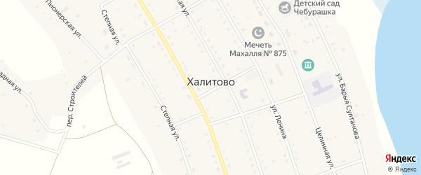 Переулок Просвещения на карте села Халитово с номерами домов