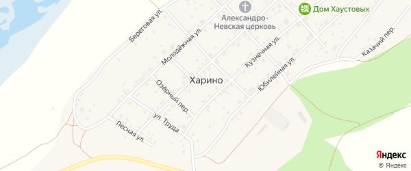 Береговой переулок на карте села Харино с номерами домов