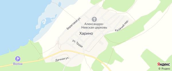 Карта села Харино в Челябинской области с улицами и номерами домов