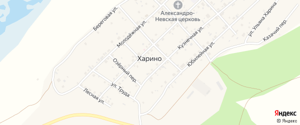 Юбилейная улица на карте села Харино с номерами домов