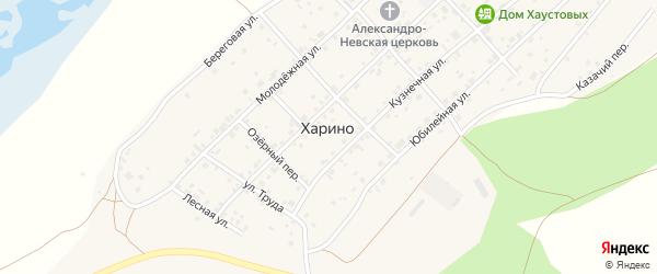 Лесная улица на карте села Харино с номерами домов