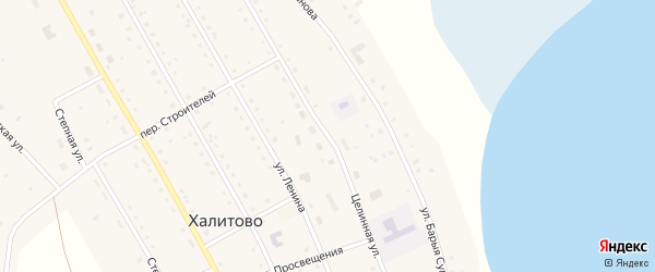 Целинная улица на карте поселка ХПП с номерами домов