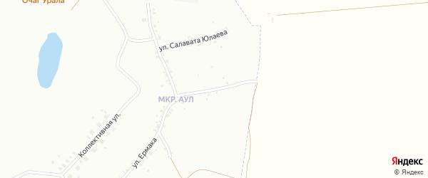Переулок Салавата Юлаева на карте Копейска с номерами домов