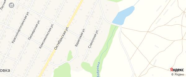 Совхозная улица на карте села Бобровки с номерами домов