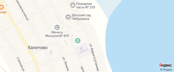 Улица Барыя Султанова на карте села Халитово с номерами домов