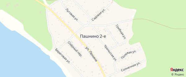 Лесная улица на карте деревни Пашнино 2-е с номерами домов