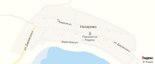 Улица Даровского на карте деревни Назарово с номерами домов