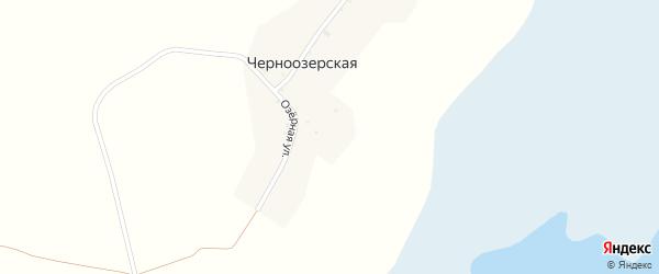 Озерная улица на карте Черноозерской деревни с номерами домов