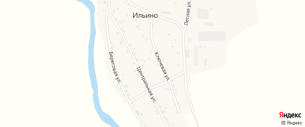 Лесная улица на карте деревни Ильино с номерами домов