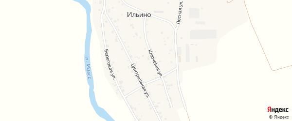Центральная улица на карте деревни Ильино с номерами домов