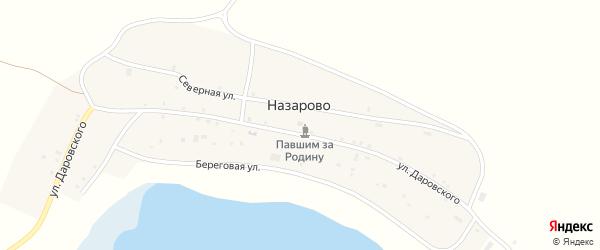 Улица 65 лет Победы на карте деревни Назарово с номерами домов