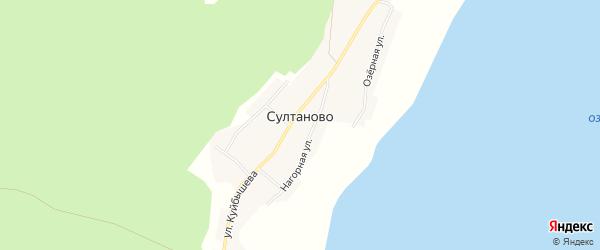 Карта деревни Султаново в Челябинской области с улицами и номерами домов