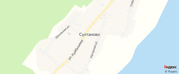 Школьная улица на карте деревни Султаново с номерами домов