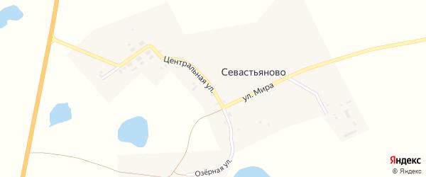 Озерный переулок на карте села Севастьяново с номерами домов