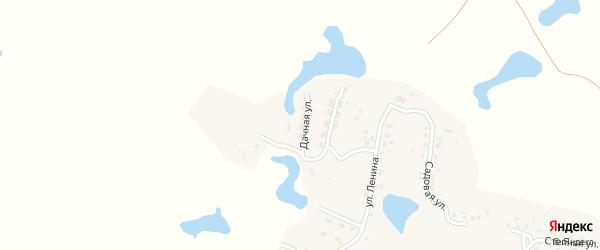 Дачная улица на карте поселка Березово с номерами домов