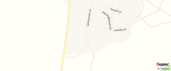 Целинная улица на карте поселка Березово с номерами домов