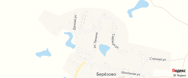Улица Ленина на карте поселка Березово с номерами домов
