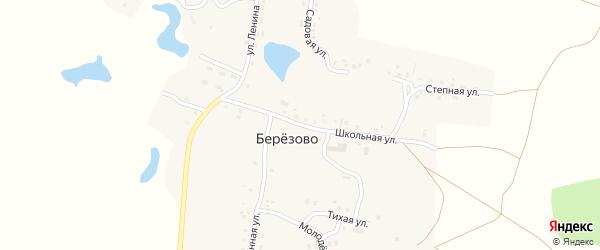 Школьная улица на карте поселка Березово с номерами домов