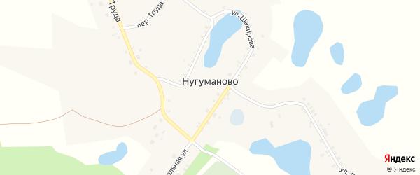 Переулок Труда на карте села Нугуманово с номерами домов