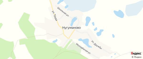 Карта села Нугуманово в Челябинской области с улицами и номерами домов