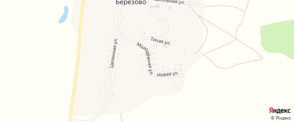 Молодежная улица на карте поселка Березово с номерами домов