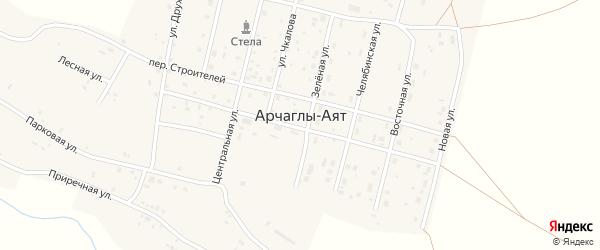 Восточная улица на карте поселка Арчаглы-Аят с номерами домов