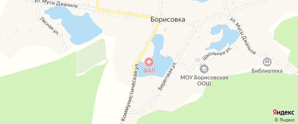 Береговая улица на карте деревни Борисовки с номерами домов