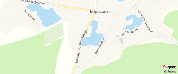 Улица Мусы Джалиля на карте деревни Борисовки с номерами домов