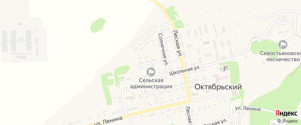 Солнечный переулок на карте Октябрьского поселка с номерами домов