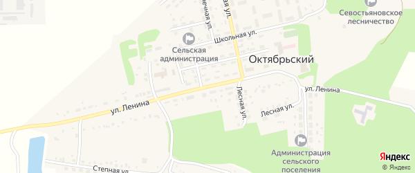 Улица Ленина на карте Октябрьского поселка с номерами домов