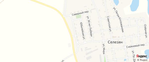 Новая улица на карте села Селезяна с номерами домов