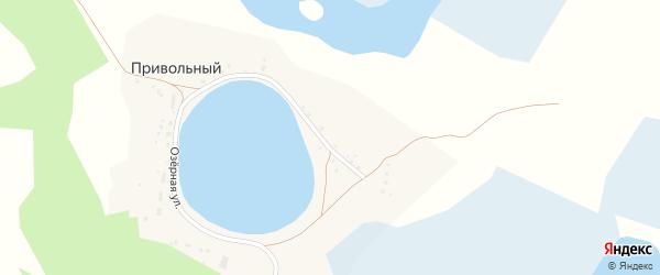 Озерная улица на карте Привольного поселка с номерами домов