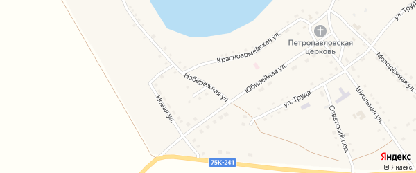 Набережная улица на карте Петровского села с номерами домов